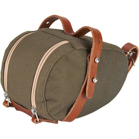 Brooks Isle of Wight Bolsa de sillín Talla M, green/honey